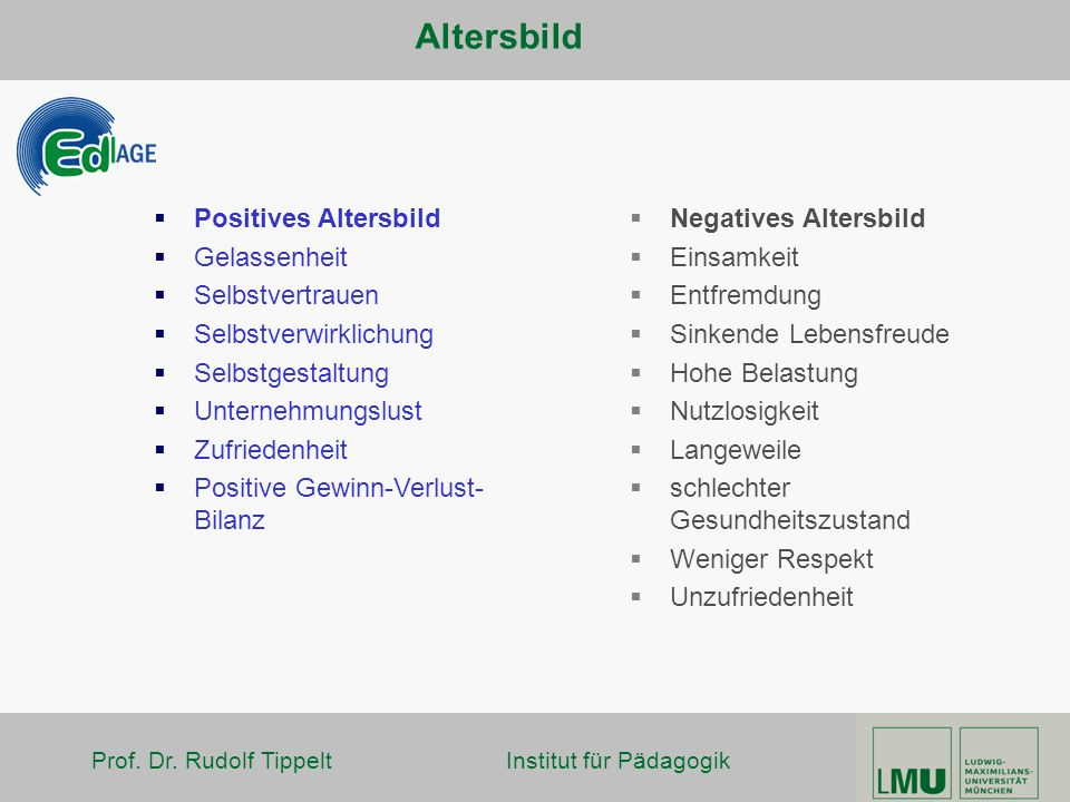 Altersbild Positives Altersbild Gelassenheit Selbstvertrauen