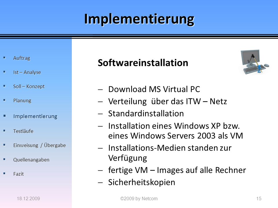 Implementierung Softwareinstallation Download MS Virtual PC