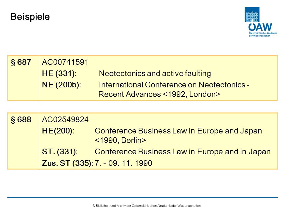 Beispiele § 687 AC HE (331): Neotectonics and active faulting