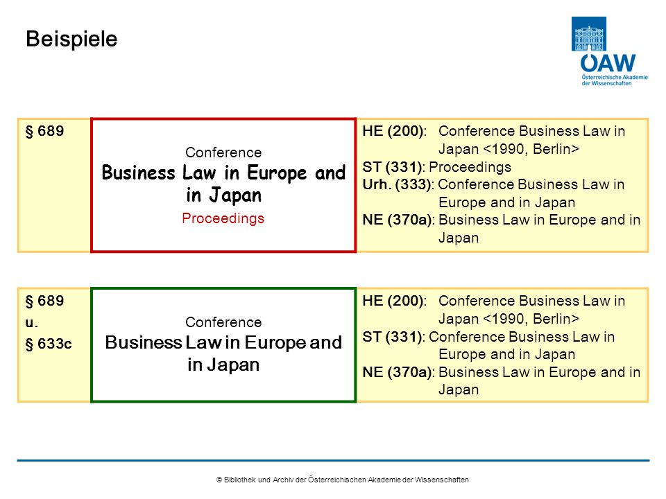 Conference Business Law in Europe and in Japan