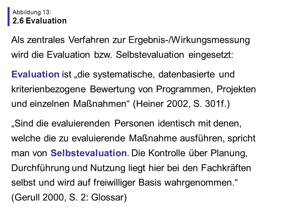 Abbildung 13: 2.6 Evaluation