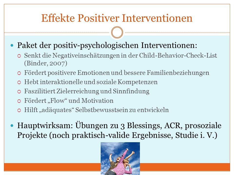 Effekte Positiver Interventionen