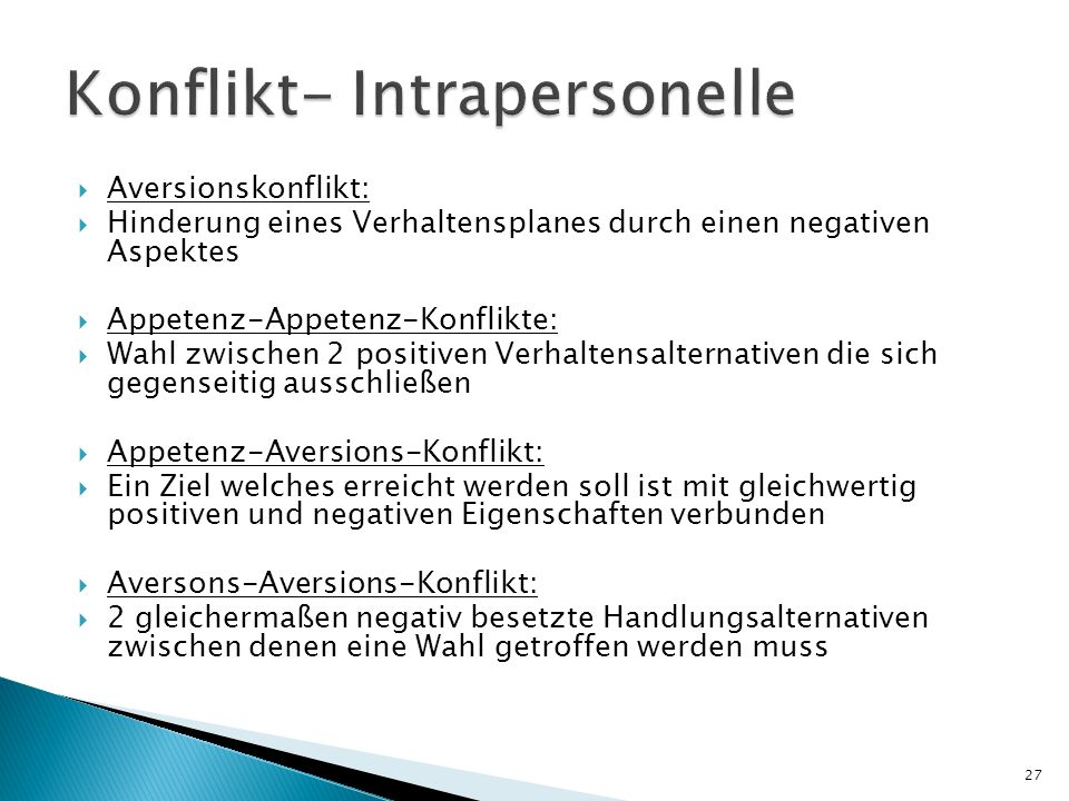 Konflikt- Intrapersonelle
