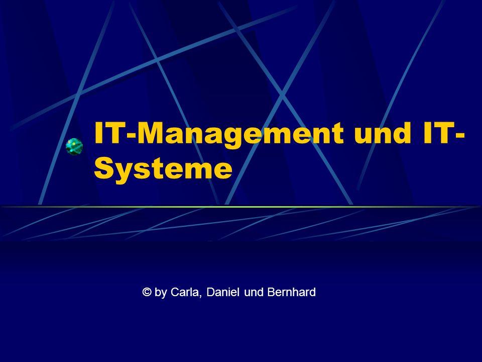 IT-Management und IT-Systeme