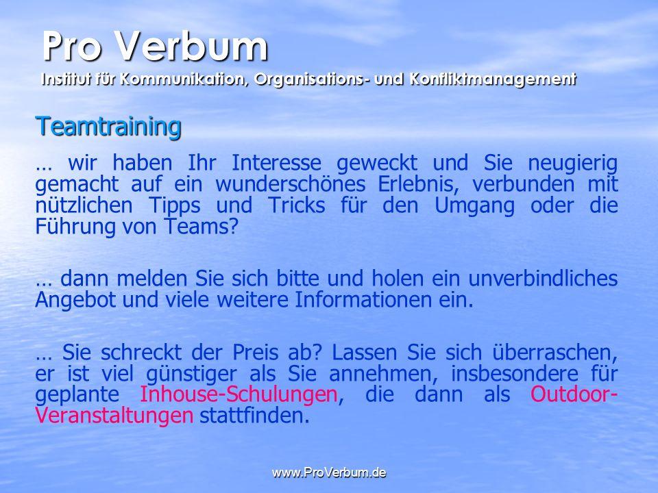 Pro Verbum Institut Für Kommunikation Organisations Und