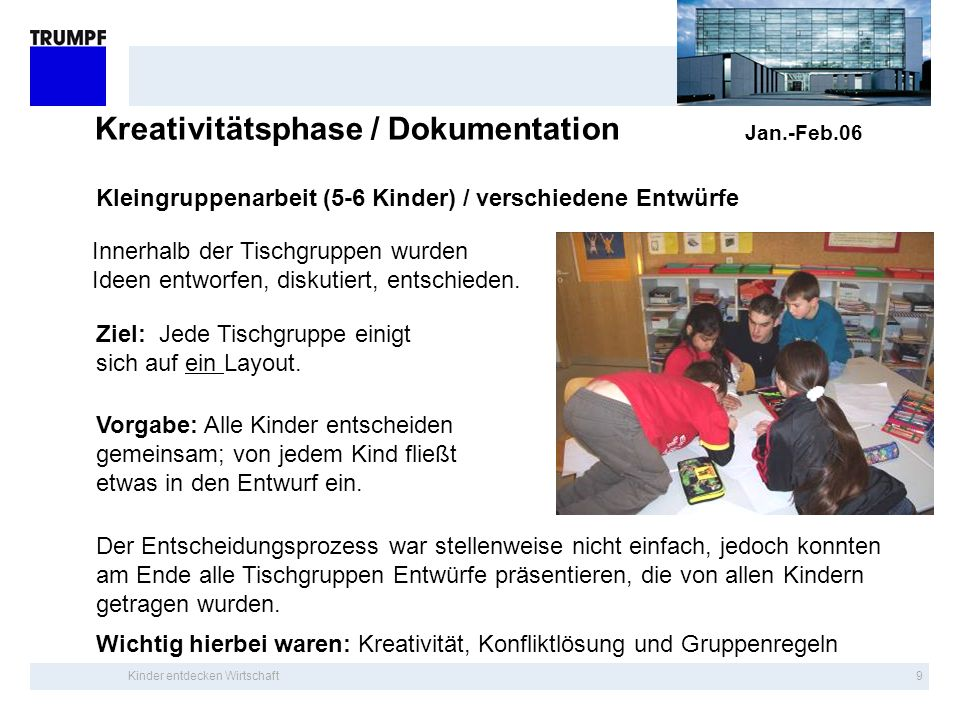 Kreativitätsphase / Dokumentation Jan.-Feb.06