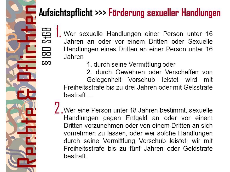 strafbare sexuelle handlungen dritter ordnung mehrere