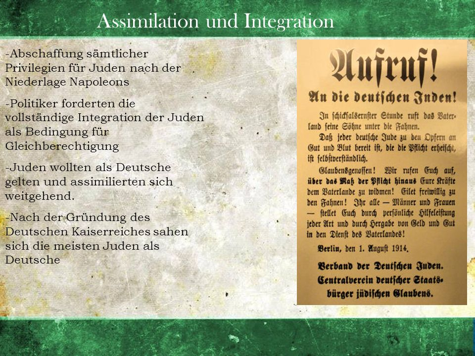 Assimilation und Integration