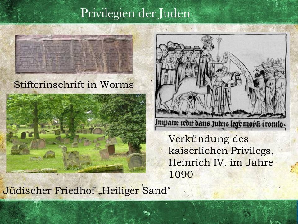 Privilegien der Juden Stifterinschrift in Worms