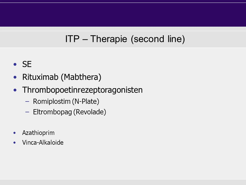 ITP – Therapie (second line)