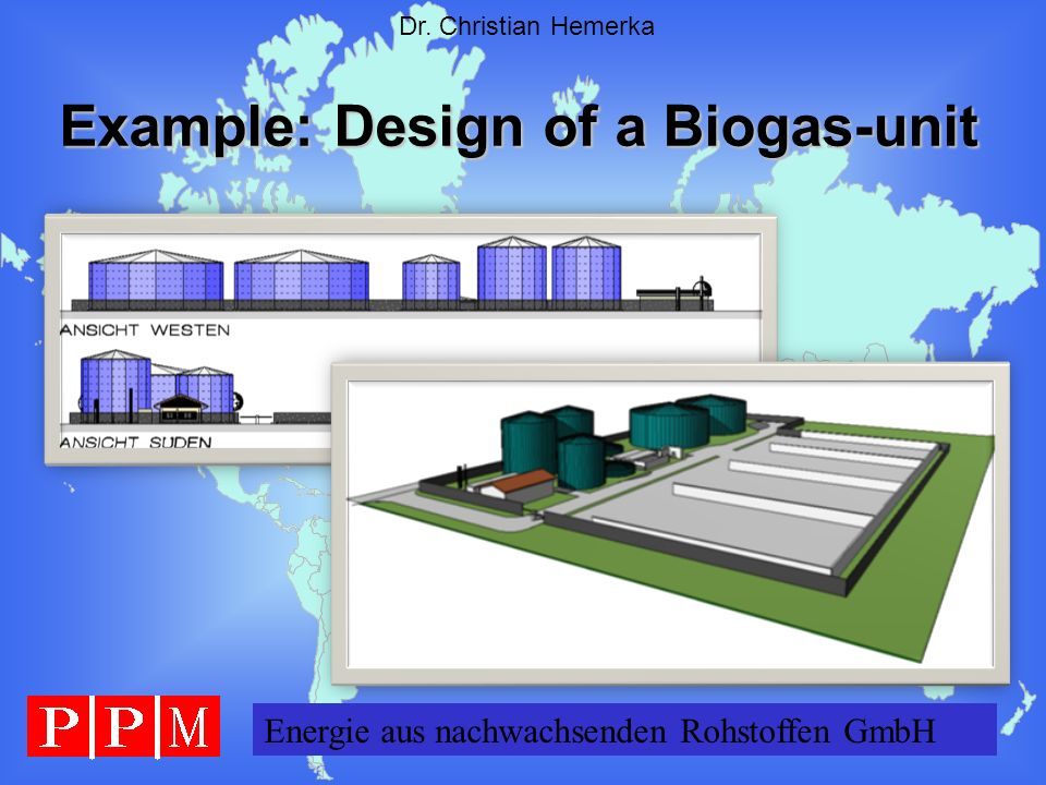 Example: Design of a Biogas-unit