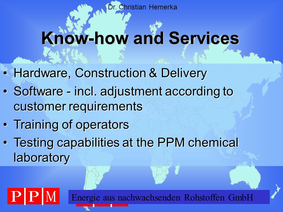 Know-how and Services Hardware, Construction & Delivery