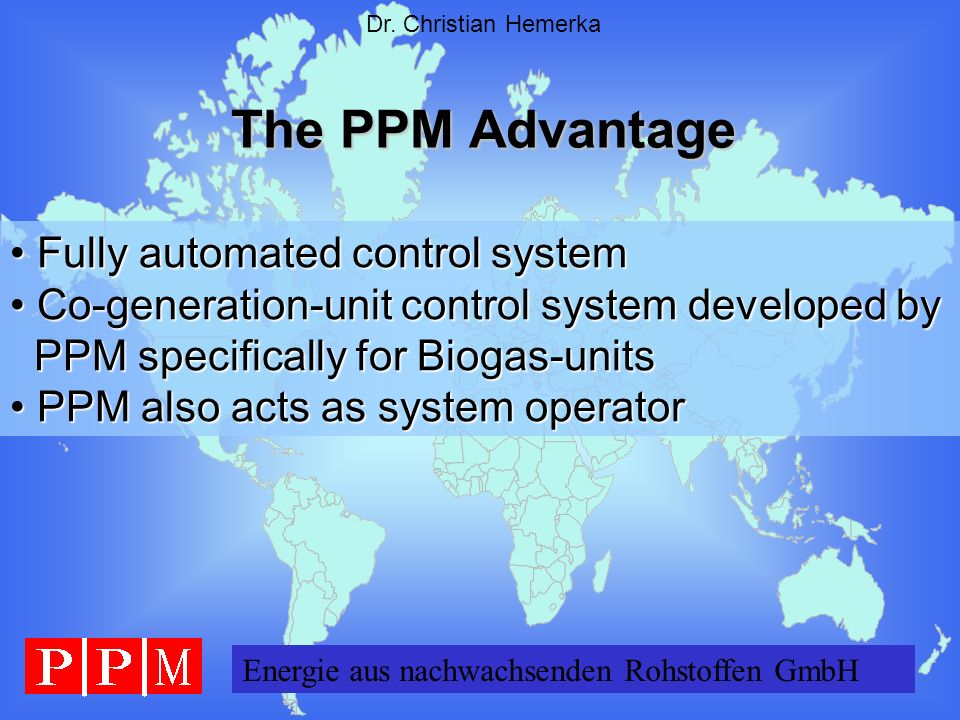 The PPM Advantage Fully automated control system