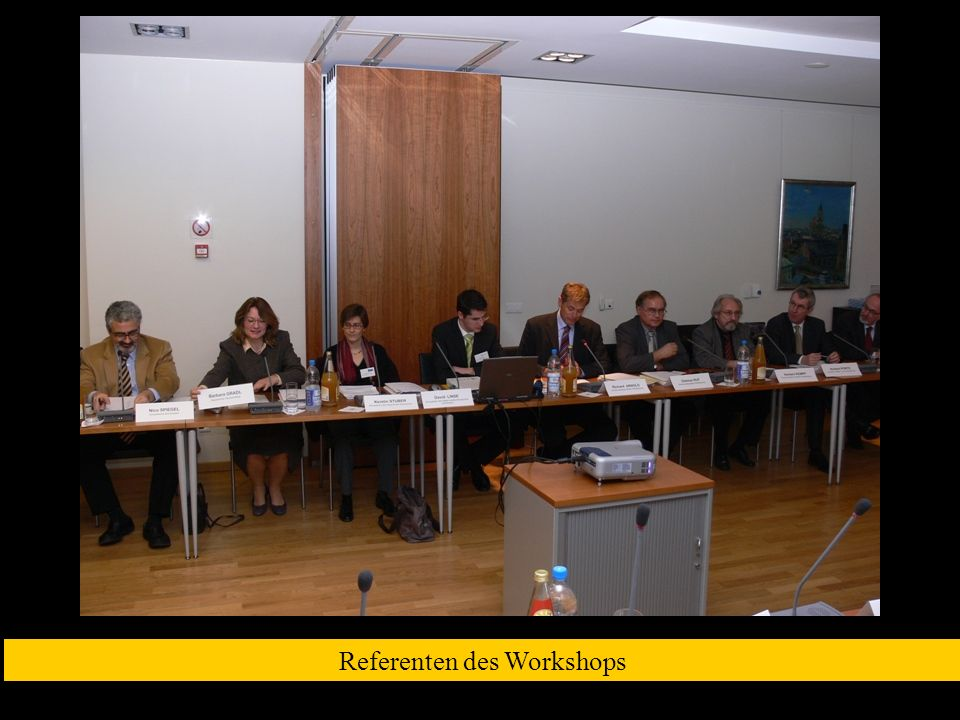 Referenten des Workshops