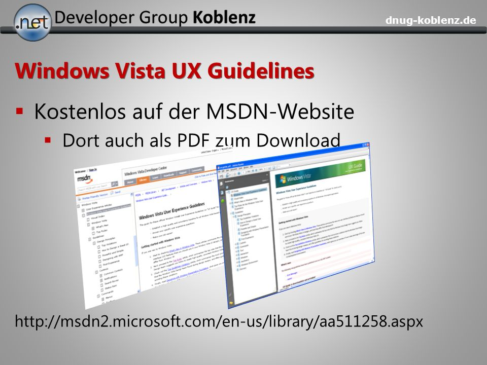 Windows Vista UX Guidelines