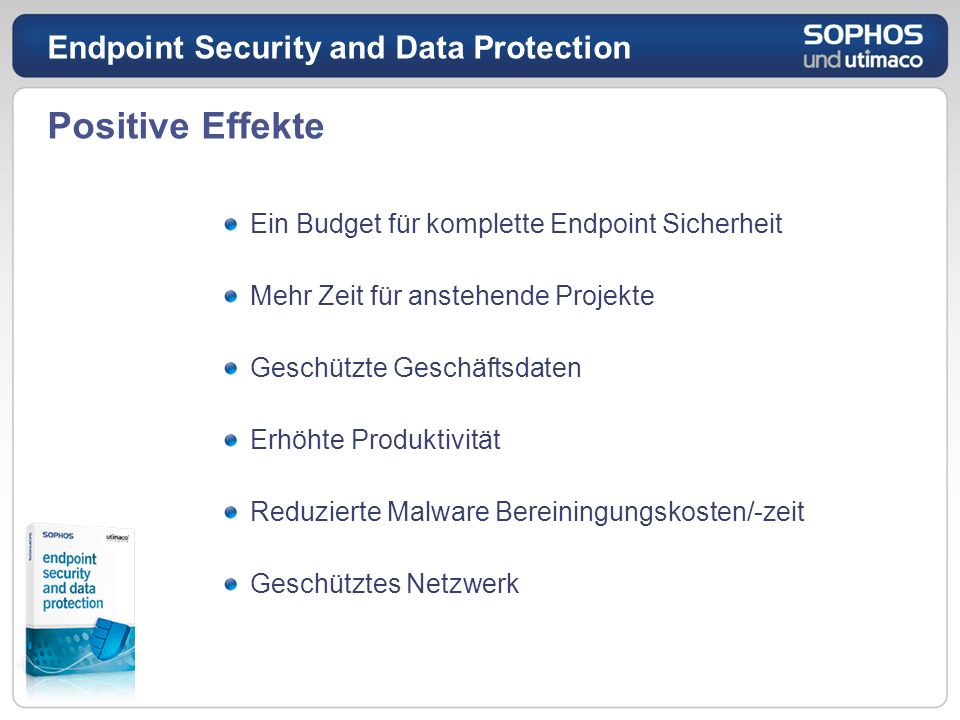 Positive Effekte Endpoint Security and Data Protection
