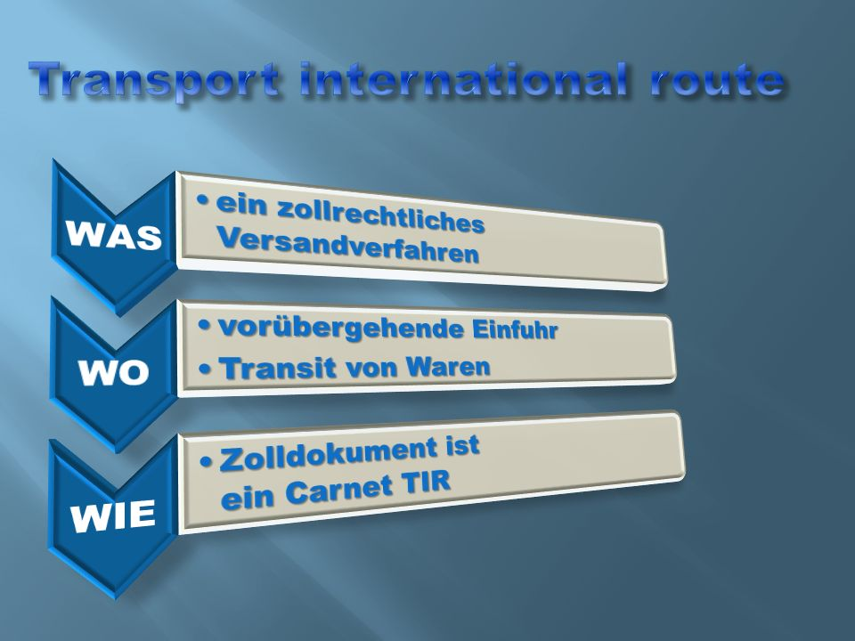 Transport international route