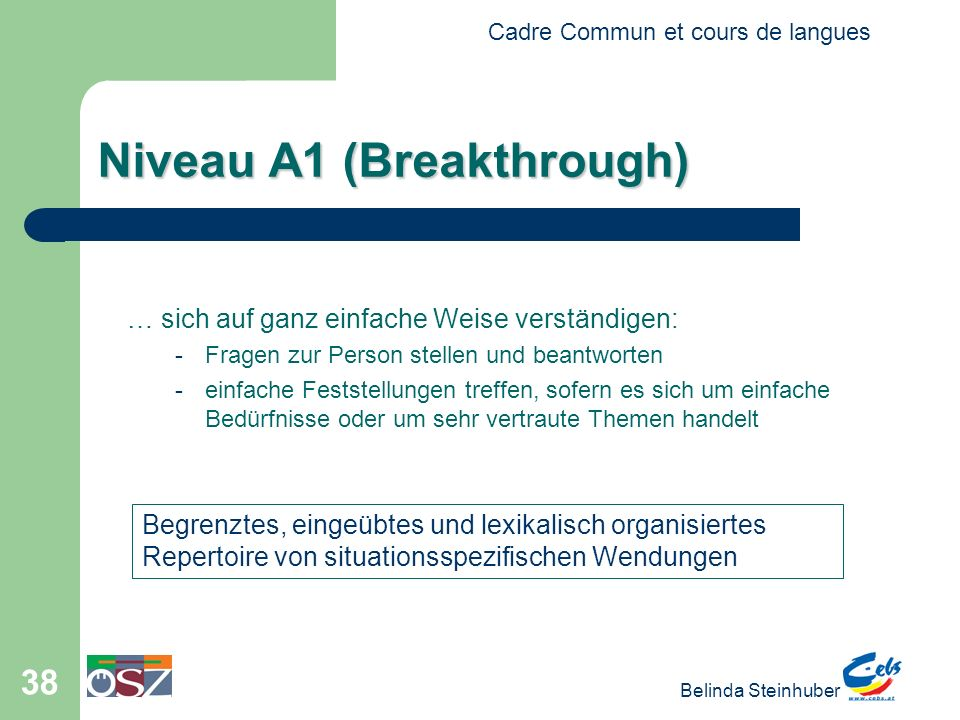 Niveau A1 (Breakthrough)