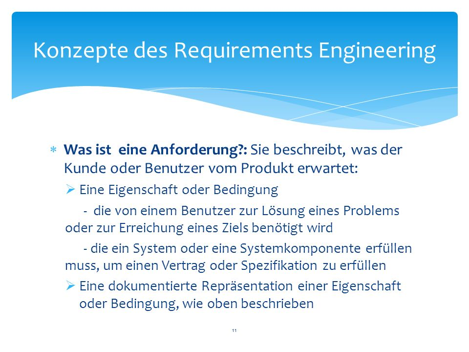Konzepte des Requirements Engineering