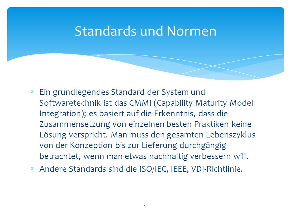 Standards und Normen