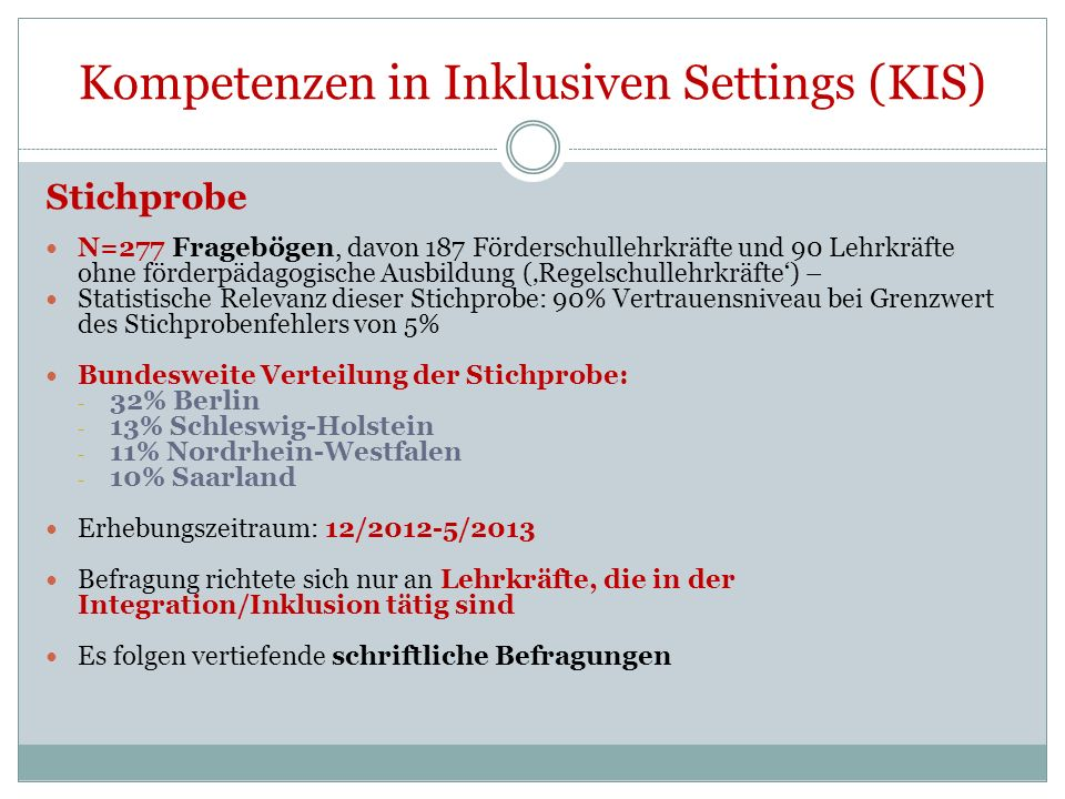 Kompetenzen in Inklusiven Settings (KIS)