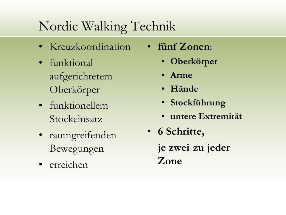 Nordic Walking Technik