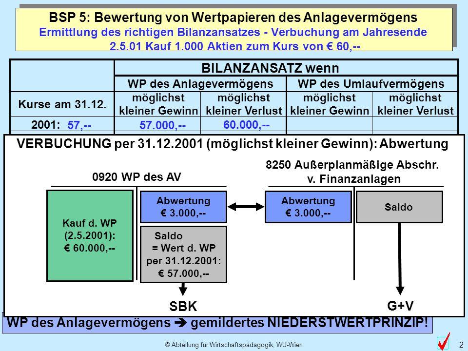2 bsp - Anlagevermogen Beispiele