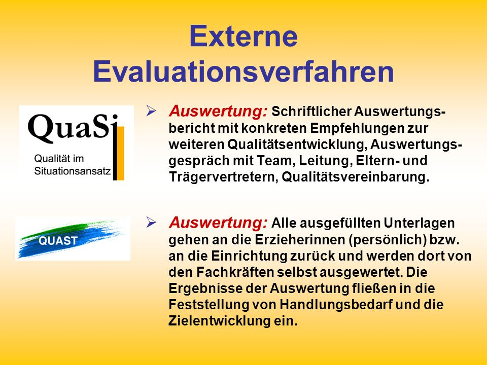 Externe Evaluationsverfahren