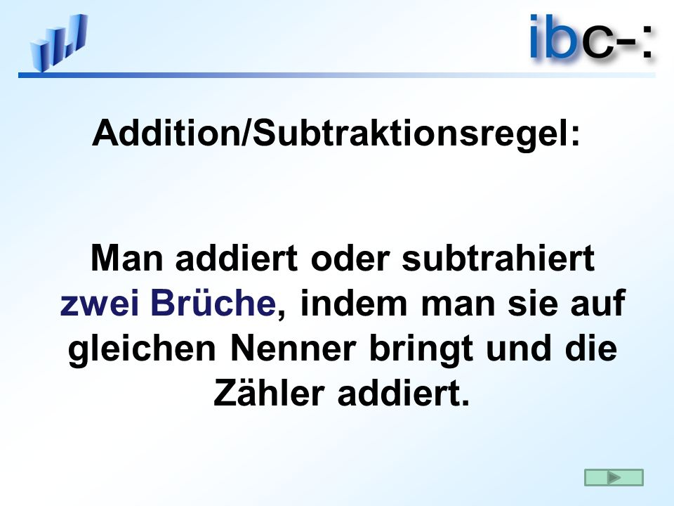 Addition/Subtraktionsregel: