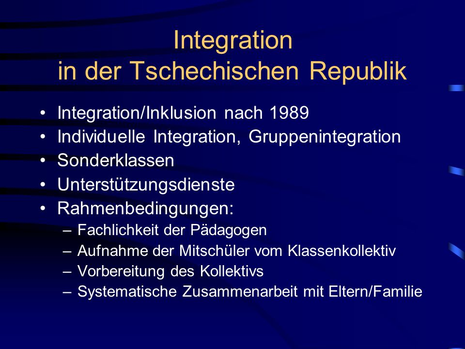 Integration in der Tschechischen Republik