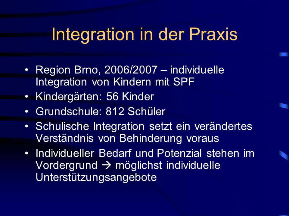 Integration in der Praxis