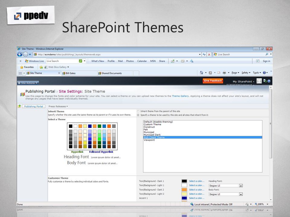SharePoint Themes