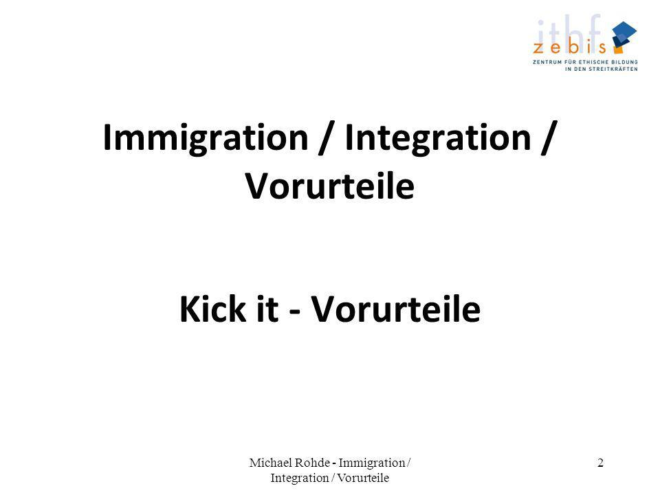 Immigration / Integration / Vorurteile
