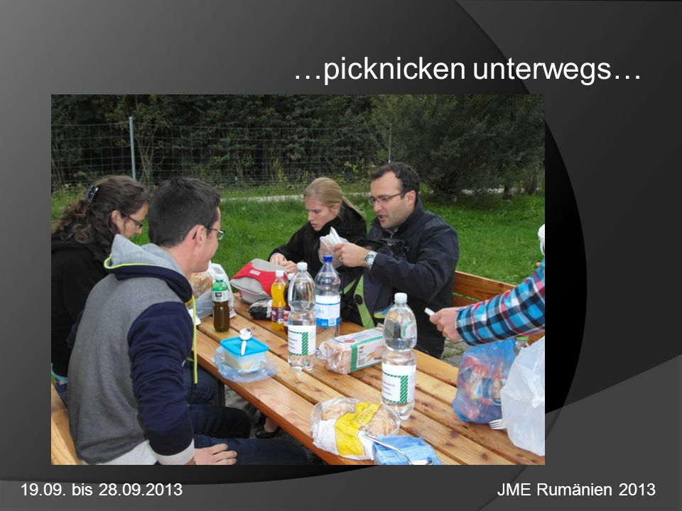 …picknicken unterwegs…
