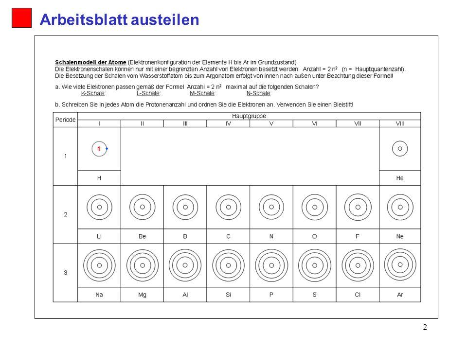 Arbeitsblatt austeilen - ppt herunterladen