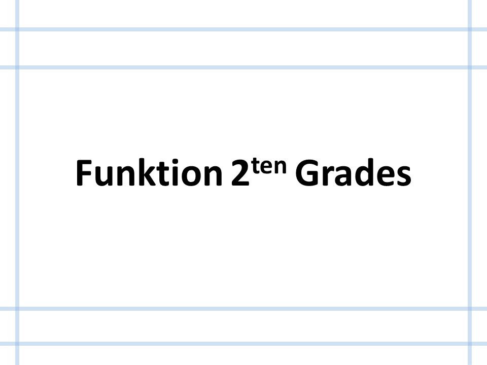 Funktion 2ten Grades