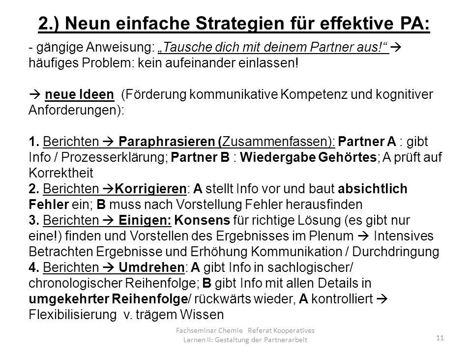 Kooperatives Lernen II: Gestaltung der Partnerarbeit - ppt video ...