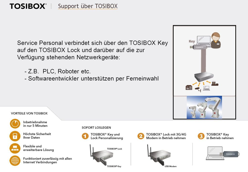 Support über TOSIBOX