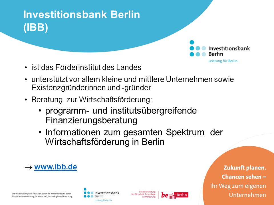 Investitionsbank Berlin (IBB)