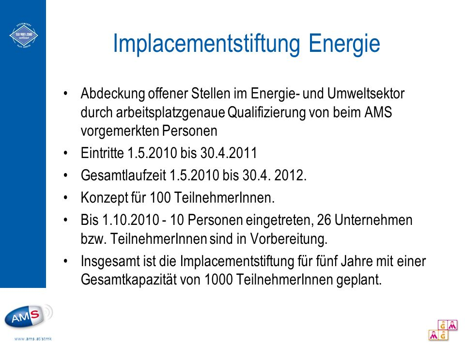 Implacementstiftung Energie
