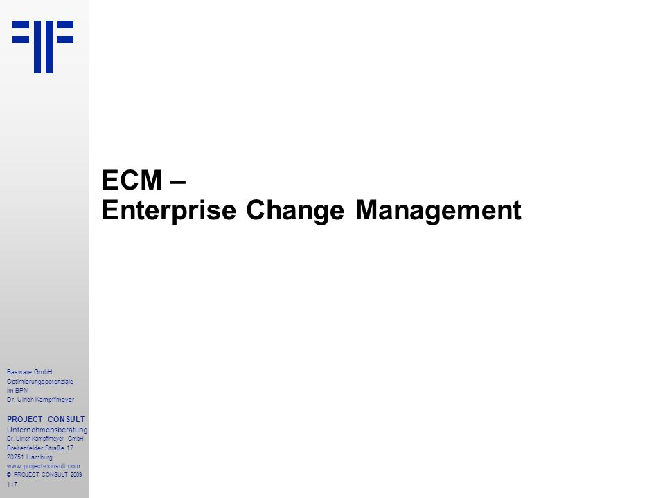 ECM – Enterprise Change Management