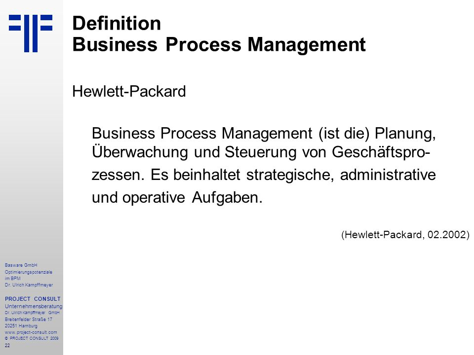 Definition Business Process Management
