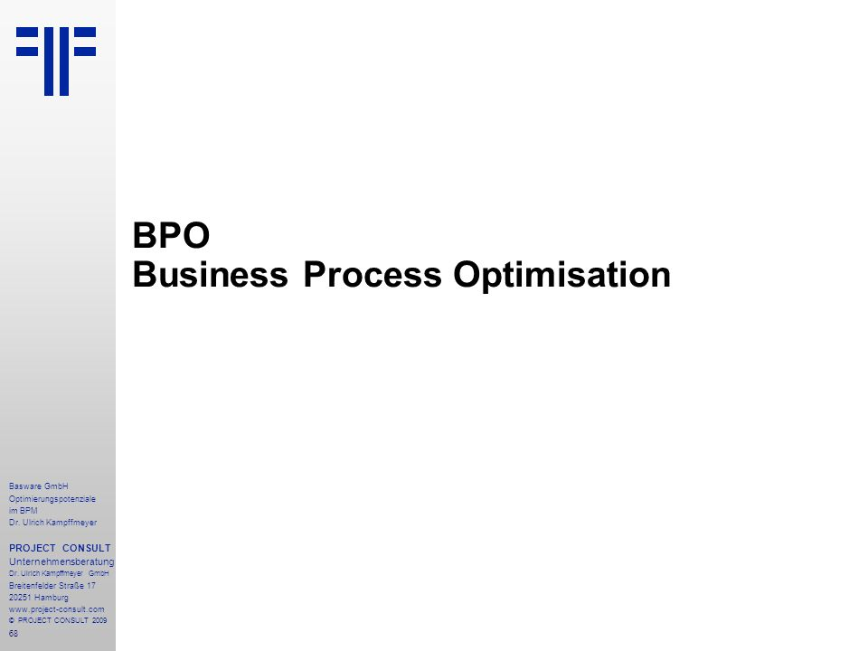 BPO Business Process Optimisation