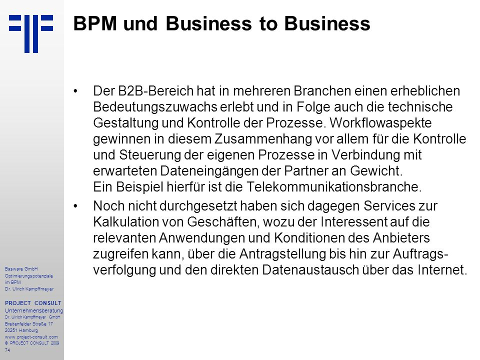 BPM und Business to Business