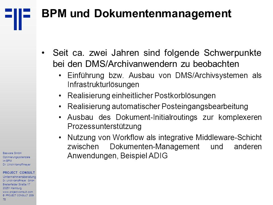 BPM und Dokumentenmanagement