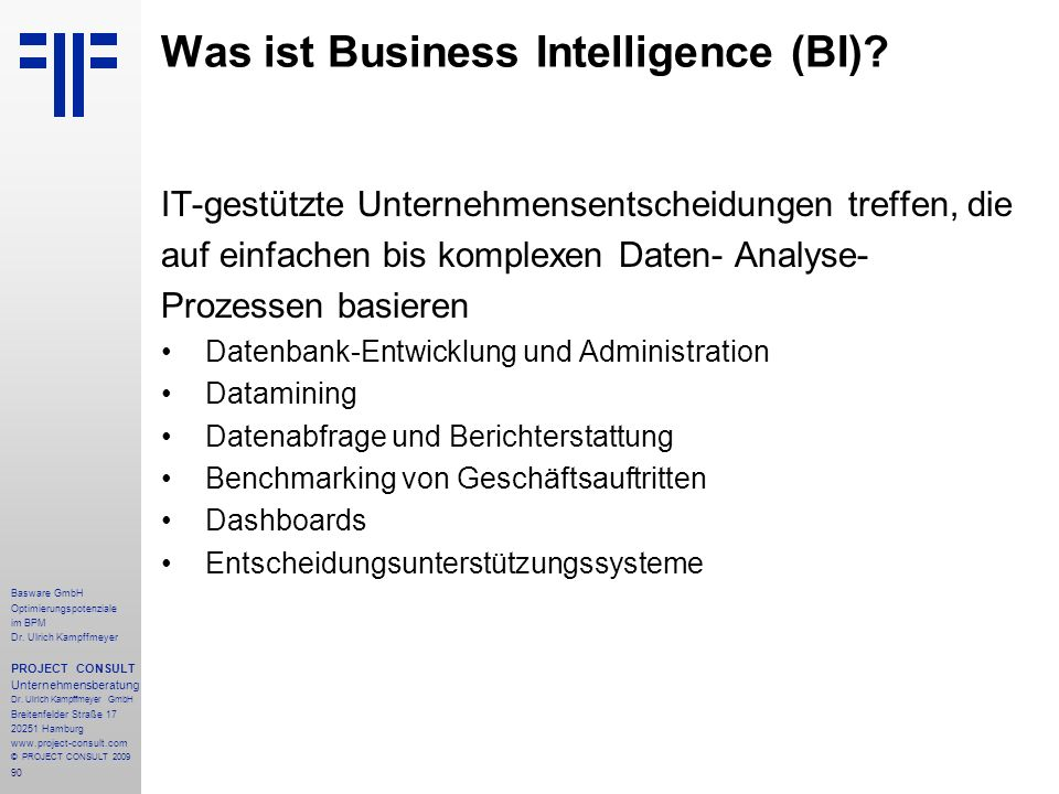 Was ist Business Intelligence (BI)