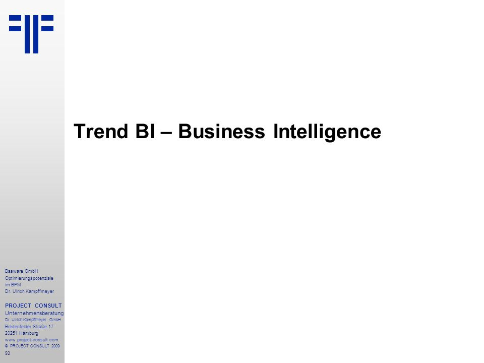 Trend BI – Business Intelligence