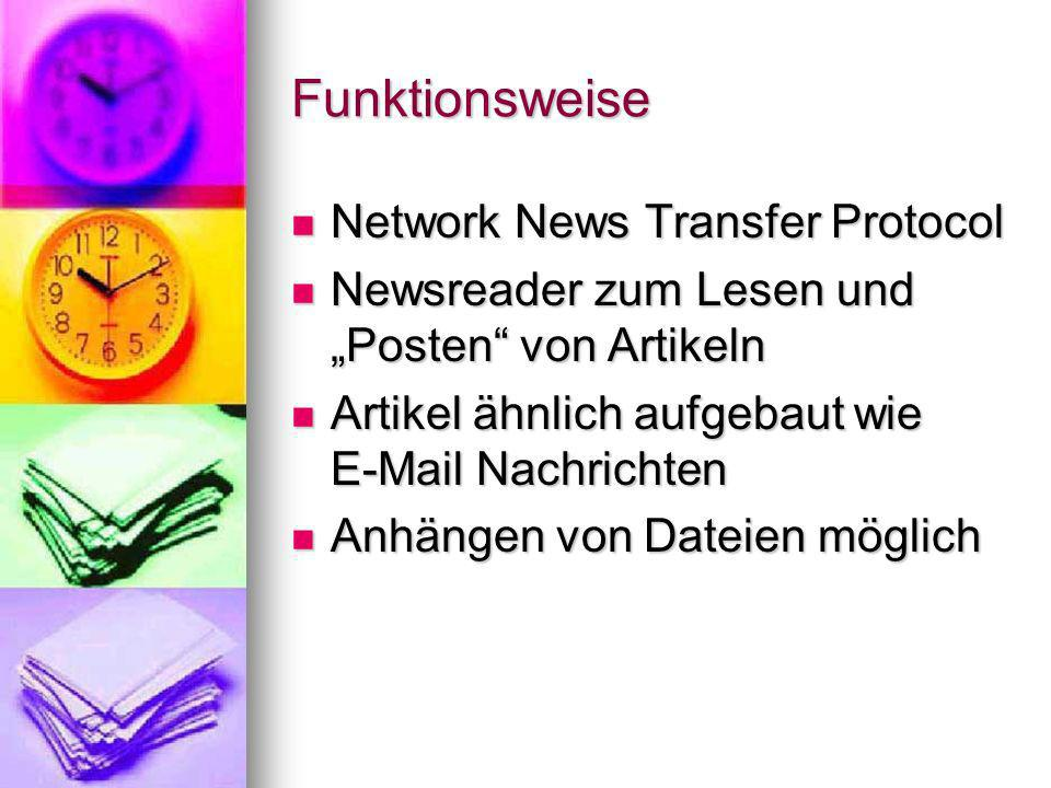 Funktionsweise Network News Transfer Protocol
