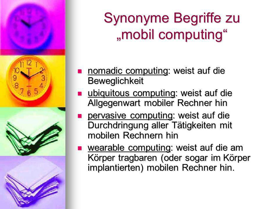 "Synonyme Begriffe zu ""mobil computing"