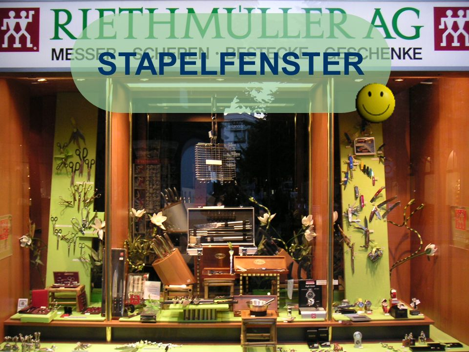STAPELFENSTER Positives: - René Kilchsperger RIETHMÜLLER